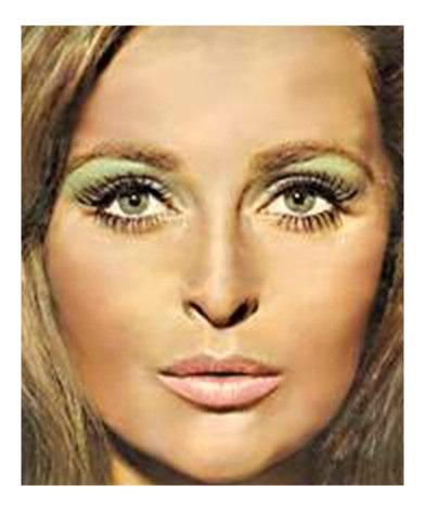 maquillaje de los años 70